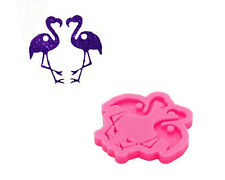 Glossy Flamingo Shape Earrings Silicone Mold Epoxy Craft Resin Molds DIY Handmad