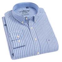 New Mens Luxury Striped Formal Stylish Dress Long Sleeves Shirts ZC6435