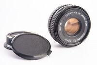 Ricoh Rikenon 50mm f/2 Prime Pancake Lens with Both Caps for K Mount V17