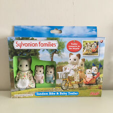 Sylvanian Families Tandem Bike & Baby Trailer Set IN BOX— FLAIR 2011 ~ Retired