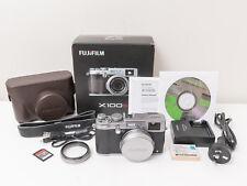 Fujifilm X100S Fuji Digital Camera &Leather Case, SD Card ~Excellent Condition