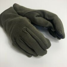 Nomex Mens Green Black Leather Palm Grip Warm Winter Gloves - Large