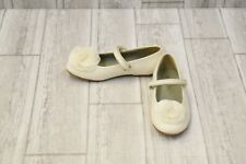 **Pazitos Silk Rose Mary Jane Shoes - Little Girl's Size 12 - White