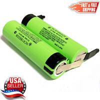 2 Panasonic NCR18650B 3.7V 3400mah Battery 18650 Japan w/ Pre-Welded Solder TABS