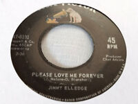 Jimmy Elledge 45 Please Love Me Forever/Penny's Worth of Happiness Teen Soul