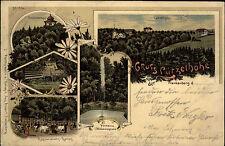 Frankenberg Sachsen 1902 Lützelhöhe Litho-AK mit Bahnpost Chemnitz Rosswein gel.