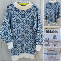 Vintage Hilda Ltd Sweater Made In Iceland 100% Pure Wool Ladies M