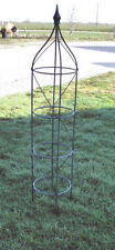 "54"" Wrought Iron Rose Topiary Garden Plant Trellis - Heavily Made to Last!"