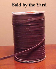 BRANDY (BROWN) Kangaroo Leather Lacing in 1/8 Inch (3mm) Width SOLD BY THE YARD