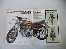 advertising Pubblicità 1973 MOTO BENELLI 750 SEI