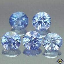 1.38CT UNHEATED 5PCS 3.8MM DIAMOND CUT BLUE BURMESE SAPPHIRE