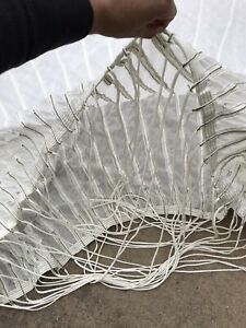 GENUINE MILITARY WHITE ROUND PARACHUTE 60FT CANOPY PHOTO SHOOT DECORATION COVER