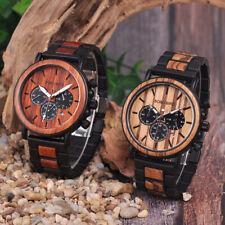 Original BOBO BIRD Wooden Mens Watches Luxury Fashion Gift for Dad Boyfriend+Box