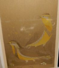 """MARY TIFT """"LARKS"""" LIMITED EDITION RICE PAPER WOODBLOCK"""