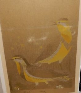 "MARY TIFT ""LARKS"" LIMITED EDITION RICE PAPER WOODBLOCK"