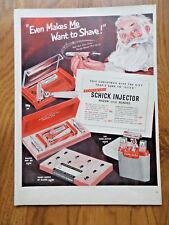 1950 Eversharp Schick Injector Razor & Blades Ad Santa Claus Christmas Theme