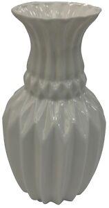 26cm Tall White Vase Flared Ceramic Flower Vase