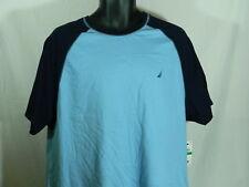 Nautica Men's Porthole Blue Baseball Sleep Tee Shirt    Size:  XLarge