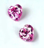 Heart Shape 4.45 Ct Pink Sapphire Gemstone Natural Matching Pair AGSL Certified