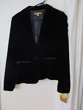 Limited Edition Velvet Target Blazer tux Black New Women's Jacket one button