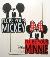 Disney I'll be your Mickey I'll Be Your Minnie 2 Pin Set Pin