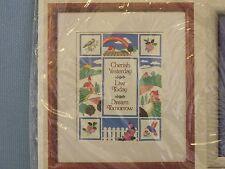 Creative Circle Cherish Embroidery Kit  #0560 Vintage Sayings Rainbow Church New