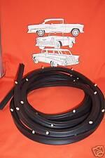1955 1956 1957  Chevy 2 or 4 Sedan Wagon Door Weatherstrip Rubber Belair Pair