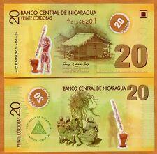 Nicaragua, 20 cordobas, 2007 (2012), P-202b, Polymer, UNC