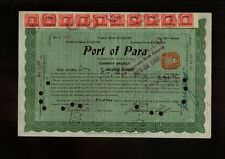 BRAZIL : PORT OF PARA 1916 with 10 stock transfer stamps