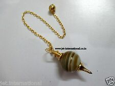 Unique Banded Agate Sphere Pendulum Dowsing Healing Chakra Balancing Hypnosis