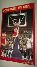 Vintage 80's NBA Dominique Wilkins Starline Reverse Dunk Poster Atlanta Hawks