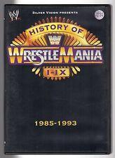 dvd WRESTLING WWE HISTORY OF WRESTLE MANIA I - IX 1985-1993