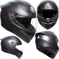 AGV Helm K-1 SOLID schwarz matt K1 Integralhelm Motorradhelm Integral S 55/56