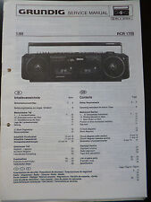 Original Service Manual  Grundig RCR 1750