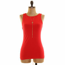 Halogen Nordstrom Tank Top Size XS S Sleeveless Double Layer Stretch Red EUC  A1