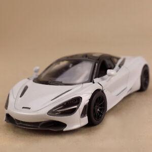 Model Car 2017 McLaren 720S White 1:36 12cm Die-Cast Gull Wing Doors Pull-Back