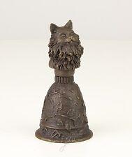 moderne Bronze Glocke floral Katzen-Griff figürlich neu 99937630-dss