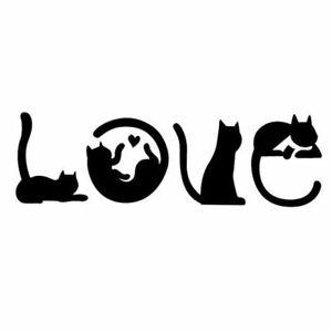 Love cat stencil - A4/A5/A6