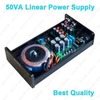 Hifi 50VA 12V DC 2 Way Ultra Low Noise Linear Power Supply Amplifier DAC Preamp