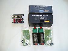 2 AEM 340lph E85 fuel pumps for twin turbo 09-18 Nissan GTR R35 FBO E85 FBO 93