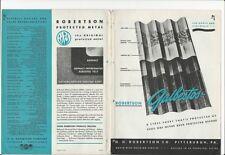 1945 GALBESTOS ASBESTOS Sheets Roofing Siding Wall Panels HH Robertson  Catalog