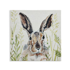 In the Meadow Bunny Rabbit Woodland Wood Canvas Wall Art Picture