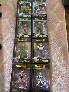 Lot Of 8 Bandai Dragon Ball Super Dragon Stars Series Broly Cooler Trunks Frieza