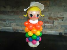 VINTAGE PLASTIC STACKABLE RINGS-DUTCH-FISHER PRICE LIKE-BONNET-VERY RARE TOY
