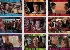 Complete Star Trek Movies Character Logs Complete 10 Card Chase Set