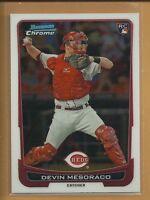Devin Mesoraco RC 2012 Bowman Chrome Draft Rookie Card # 24 Reds Mets Baseball