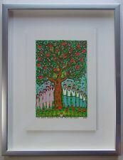 James Rizzi The apple doesn't fall far from - Farblithografie 2-D Grafik gerahmt