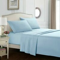 Egyptian Comfort 1800 Count 4 Piece Bed Sheet Set Deep Pocket sheets Queen Size
