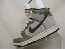 Nike Green Leather White Canvas Lace UP Sneaker Boots Womens Size 7.5