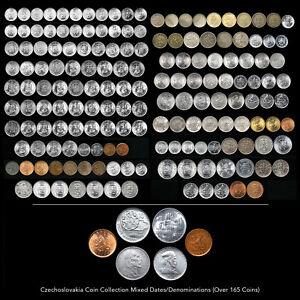 CZECHOSLOVAKIA COIN COLLECTION (OVER 165 COINS) RARE MIXED DATE / DENOMINATIONS